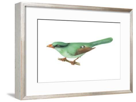 Green Magpie (Cissa Chinensis), Birds-Encyclopaedia Britannica-Framed Art Print