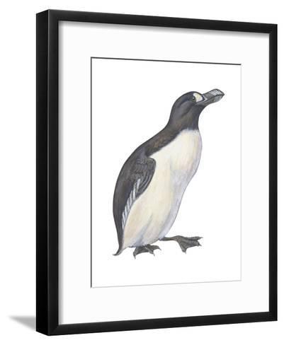 Great Auk (Pinguinnus Impennis), Birds-Encyclopaedia Britannica-Framed Art Print