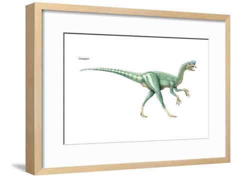 Dinosaur-Encyclopaedia Britannica-Framed Art Print