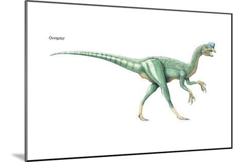 Dinosaur-Encyclopaedia Britannica-Mounted Art Print