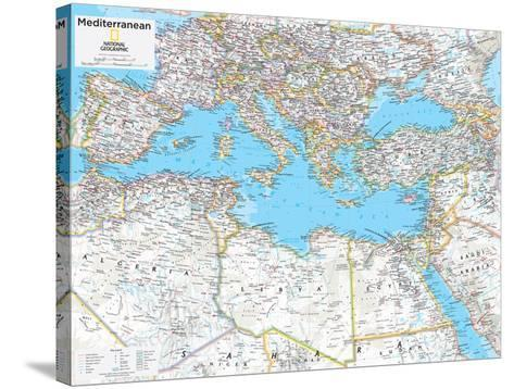 2014 Mediterranean Region - National Geographic Atlas of the World, 10th Edition--Stretched Canvas Print