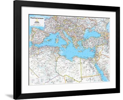 2014 Mediterranean Region - National Geographic Atlas of the World, 10th Edition--Framed Art Print