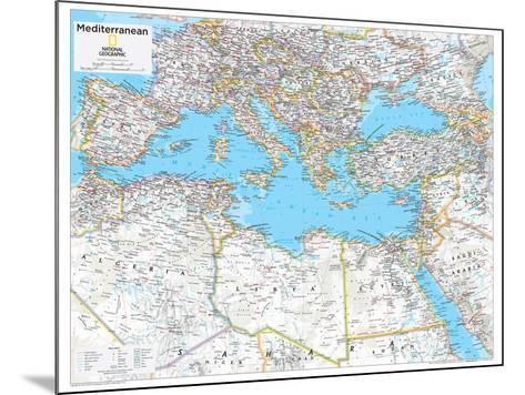 2014 Mediterranean Region - National Geographic Atlas of the World, 10th Edition--Mounted Art Print