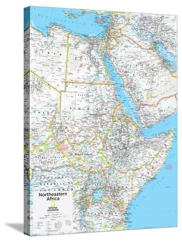 2014 Northeastern Africa - National Geographic Atlas of the World, 10th Edition--Stretched Canvas Print
