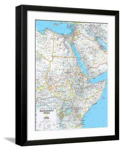 2014 Northeastern Africa - National Geographic Atlas of the World, 10th Edition--Framed Art Print