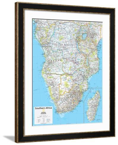 2014 Southern Africa - National Geographic Atlas of the World, 10th Edition--Framed Art Print