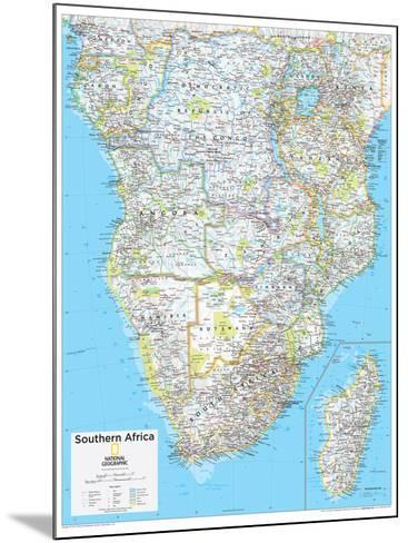 2014 Southern Africa - National Geographic Atlas of the World, 10th Edition--Mounted Art Print