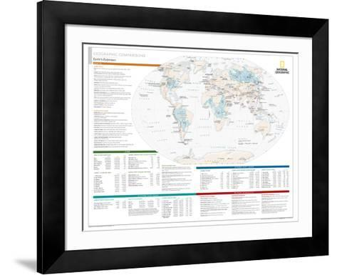 2014 Geographic Comparisons - National Geographic Atlas of the World, 10th Edition--Framed Art Print
