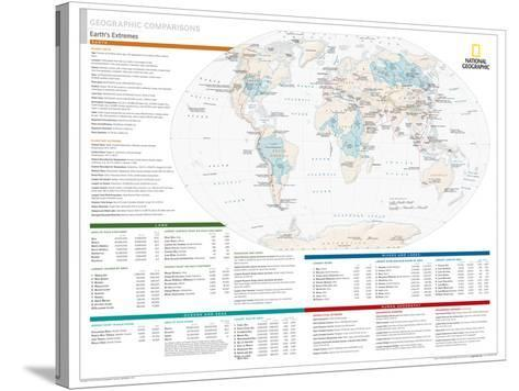 2014 Geographic Comparisons - National Geographic Atlas of the World, 10th Edition--Stretched Canvas Print