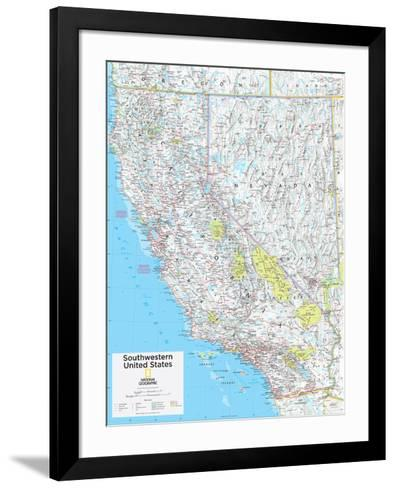 2014 Southwestern US - National Geographic Atlas of the World, 10th Edition--Framed Art Print