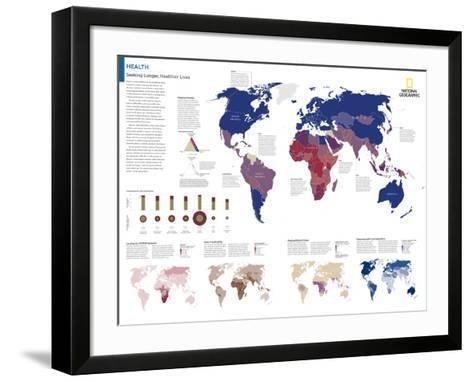 2014 Health - National Geographic Atlas of the World, 10th Edition--Framed Art Print
