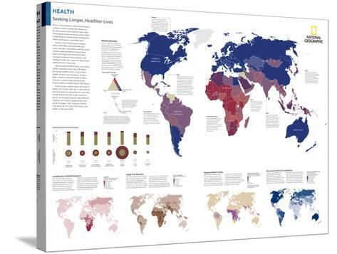 2014 Health - National Geographic Atlas of the World, 10th Edition--Stretched Canvas Print