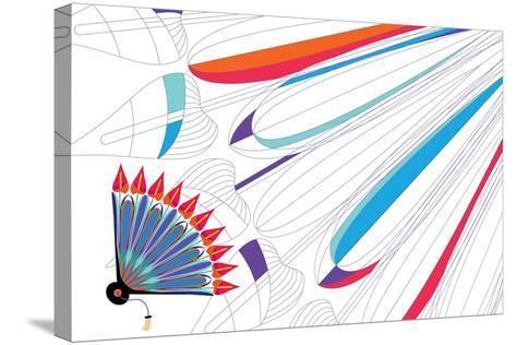 Nature Fan, Anturio-Bel?n Mena-Stretched Canvas Print