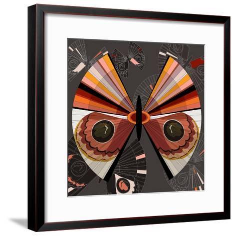 Nature Fan, Moth Color-Bel?n Mena-Framed Art Print