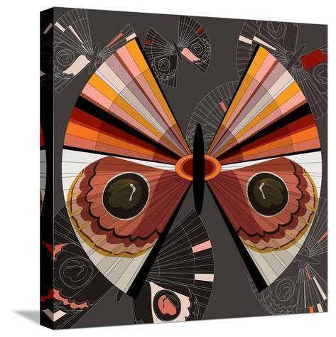Nature Fan, Moth Color-Bel?n Mena-Stretched Canvas Print