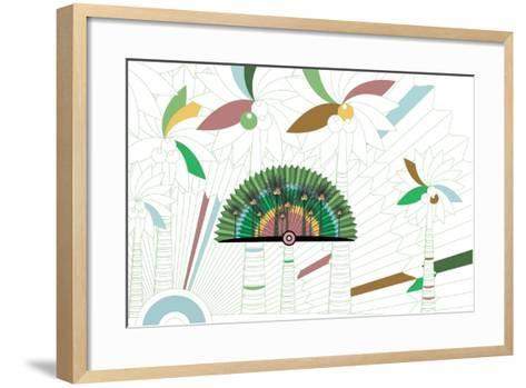 Nature Fan, Coconut-Bel?n Mena-Framed Art Print