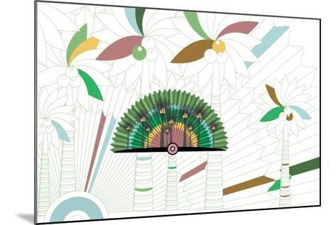 Nature Fan, Coconut-Bel?n Mena-Mounted Giclee Print