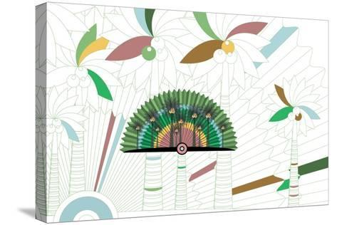 Nature Fan, Coconut-Bel?n Mena-Stretched Canvas Print