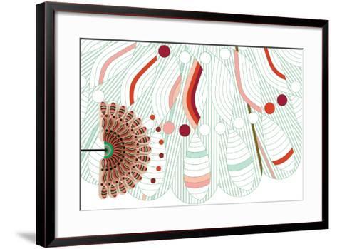Nature Fan, Red And Green-Bel?n Mena-Framed Art Print