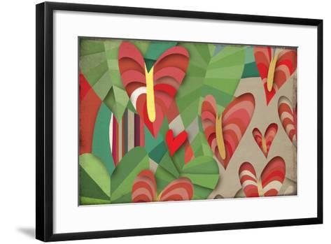 Selvática, Anturios Color-Bel?n Mena-Framed Art Print