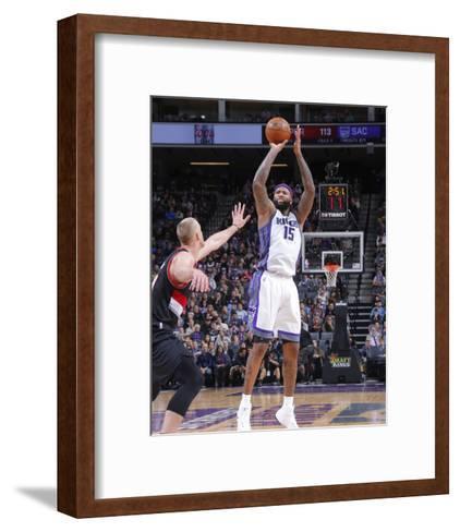 Portland Trail Blazers v Sacramento Kings-Rocky Widner-Framed Art Print