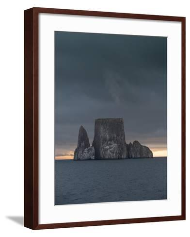 Sunset over Kicker Rock or Leon Dormido Part of the Galapagos Islands, Ecuador-Jeff Mauritzen-Framed Art Print