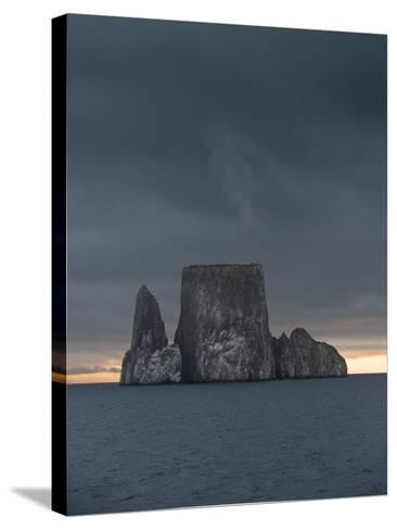 Sunset over Kicker Rock or Leon Dormido Part of the Galapagos Islands, Ecuador-Jeff Mauritzen-Stretched Canvas Print
