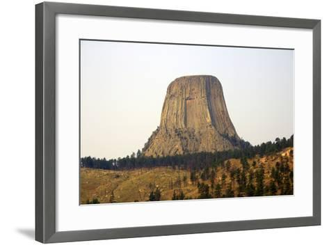 Devils Tower National Monument in Wyoming, Usa-Donna O'Meara-Framed Art Print