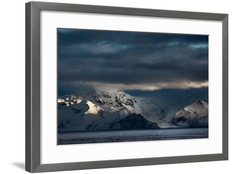 A Dramatic Sunrise over Mountains in Iceland-Alex Saberi-Framed Art Print