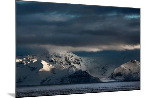 A Dramatic Sunrise over Mountains in Iceland-Alex Saberi-Mounted Photographic Print