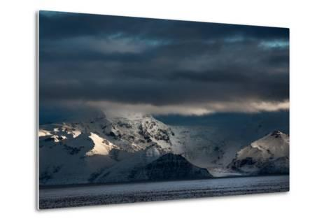 A Dramatic Sunrise over Mountains in Iceland-Alex Saberi-Metal Print