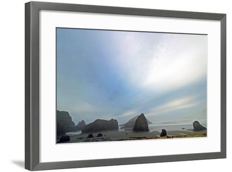 Haystack Rock at Oregon Beach, Usa-Donna O'Meara-Framed Art Print