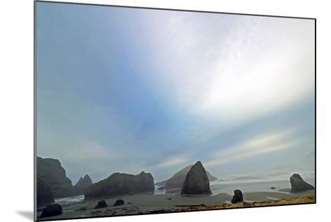 Haystack Rock at Oregon Beach, Usa-Donna O'Meara-Mounted Photographic Print