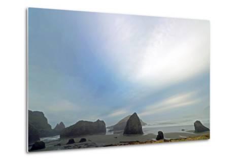 Haystack Rock at Oregon Beach, Usa-Donna O'Meara-Metal Print