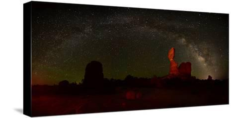 The Milky Way Above Balanced Rock in Arches National Park-Raul Touzon-Stretched Canvas Print