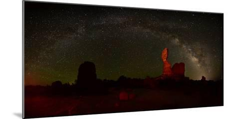 The Milky Way Above Balanced Rock in Arches National Park-Raul Touzon-Mounted Photographic Print
