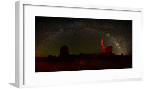 The Milky Way Above Balanced Rock in Arches National Park-Raul Touzon-Framed Art Print