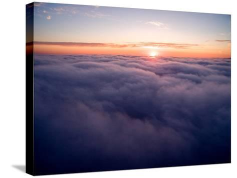 Clouds Above Big Sur at Sunset-Ben Horton-Stretched Canvas Print