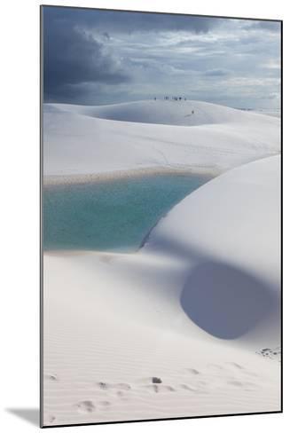 The Lencois Maranhenses Sand Dunes and Lagoons at Sunset in Maranhao State, Brazil-Alex Saberi-Mounted Photographic Print