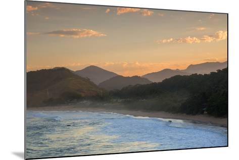 Praia Vermelha Do Centro Surfer Beach and Serra Do Mar State Park in Ubatuba, Brazil-Alex Saberi-Mounted Photographic Print