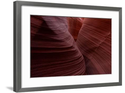 Eroded Sandstone Formations in Rattlesnake Canyon-Raul Touzon-Framed Art Print