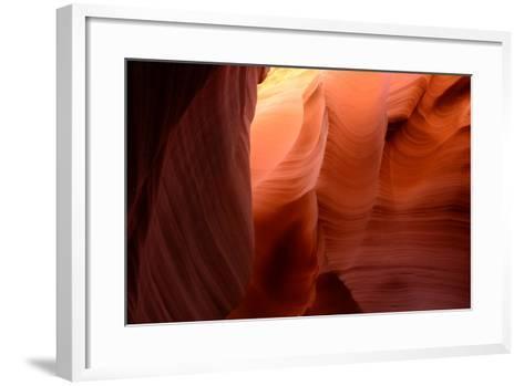 Sandstone Formations in Rattlesnake Canyon-Raul Touzon-Framed Art Print