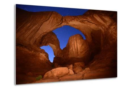 Double Arch at Night in Arches National Park-Raul Touzon-Metal Print