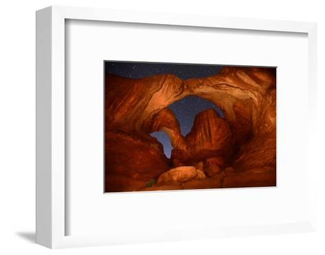 Double Arch at Night in Arches National Park-Raul Touzon-Framed Art Print