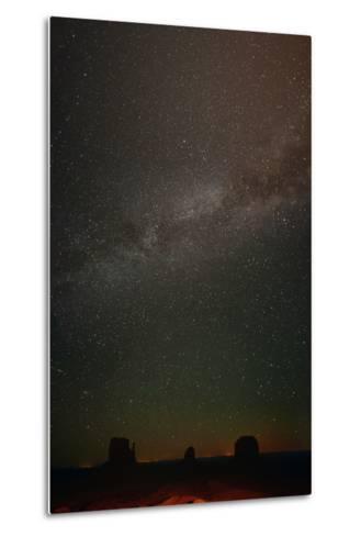 Milky Way Above Monument Valley-Raul Touzon-Metal Print