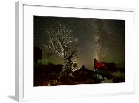 The Milky Way Above Turret Arch-Raul Touzon-Framed Art Print