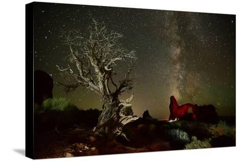 The Milky Way Above Turret Arch-Raul Touzon-Stretched Canvas Print