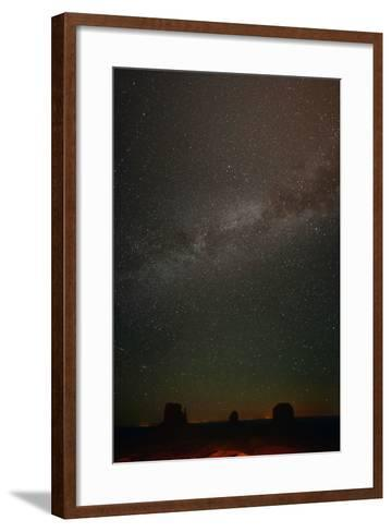 Milky Way Above Monument Valley-Raul Touzon-Framed Art Print