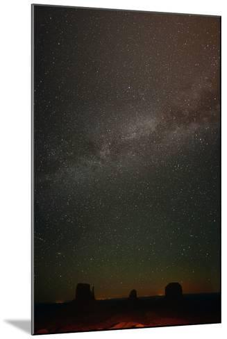 Milky Way Above Monument Valley-Raul Touzon-Mounted Photographic Print