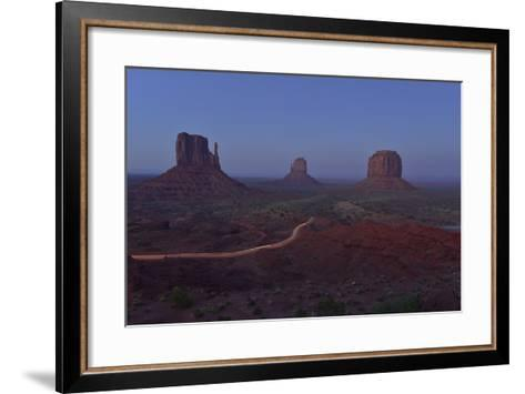 Buttes at Monument Valley Tribal Park-Raul Touzon-Framed Art Print